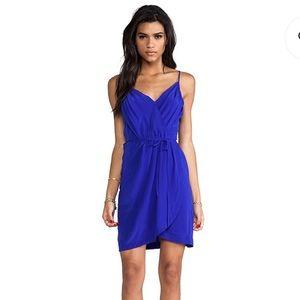 Yumi Kim Royal Blue Tulip Pleated Dress Size M